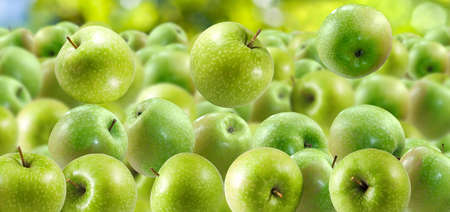 green apples: image of green apples closeup