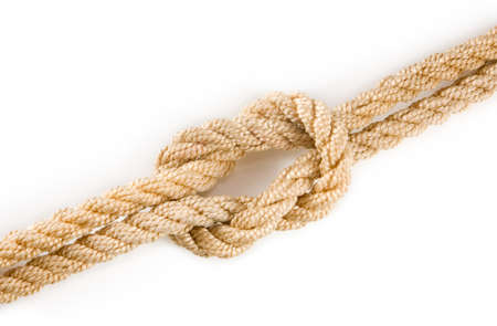 image of knot on white background close-up