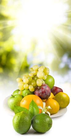 Isolated image of fruits close-up Stock Photo