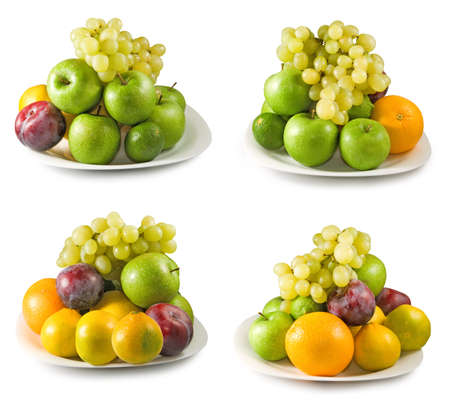 Isolated image of fruits closeup