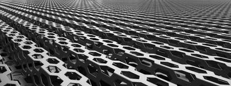 reticular: Image of metal structures. Background Stock Photo