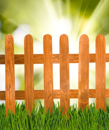 image of the fence in the garden closeup