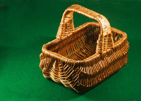 food basket on a green background