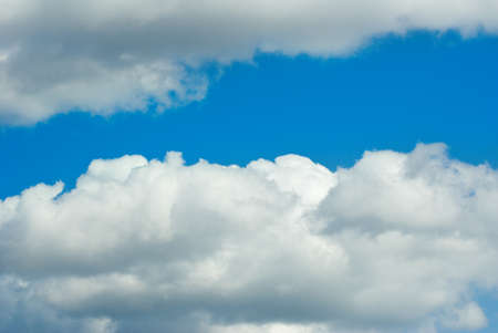 Image of cloud on blue sky background close up Stock Photo