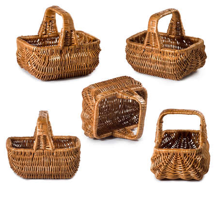 Isolated image of baskets closeup