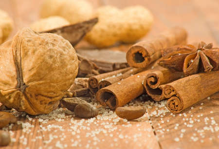 image of different spices closeup Stock Photo