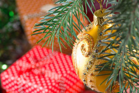 Image of Christmas decorations closeup Stock Photo