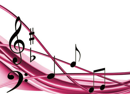 stylized image of notes closeup