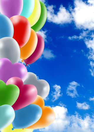 image of balloons against the sky