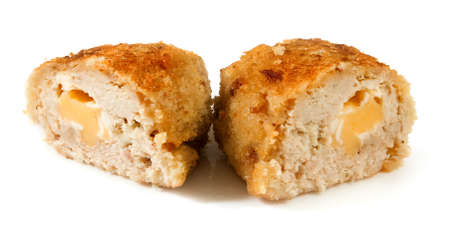 image of cutlet on white background closeup