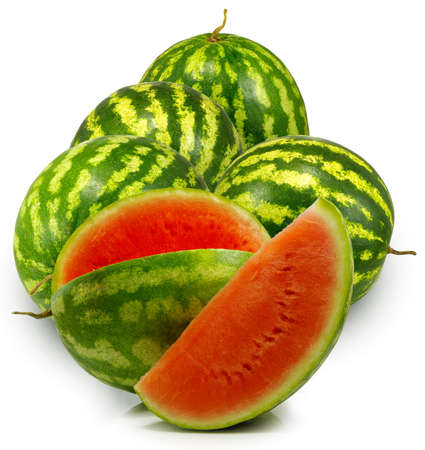 Isolated image of a watermelons on a white background