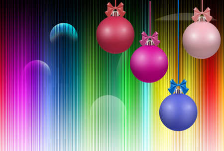 Image of beautiful festive designer christmas decorations.Merry Christmas and Happy New Year Greeting Card