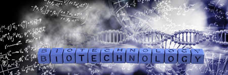 abstract image of dna chain on blurred background Imagens
