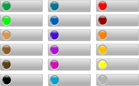 Empty Colored web button collection Vector