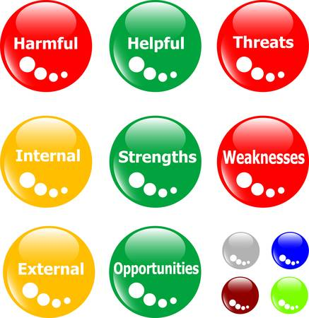 SWOT analysis concept button Vector