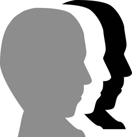 man face profile: hombre de cara