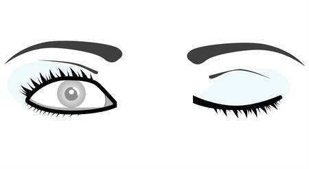 glowing skin: ojos de mujer de vectores