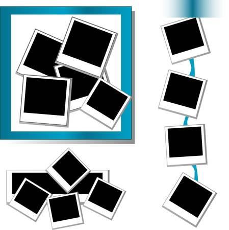 instant: Photo frames set Illustration