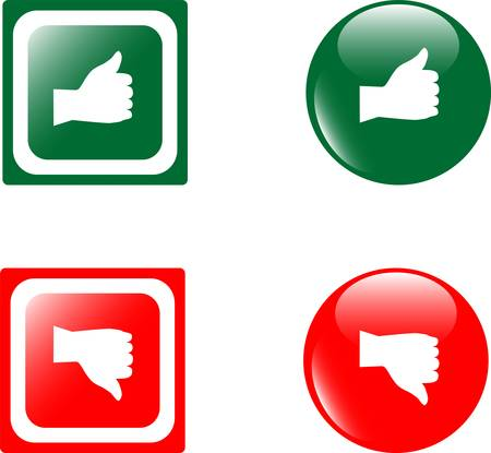 UP DOWN glossy buttons Vector