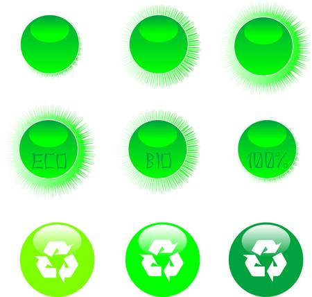 eco icon set green Stock Vector - 9817468