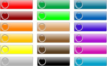 glossy empty web buttons colored set Stock Vector - 9817467