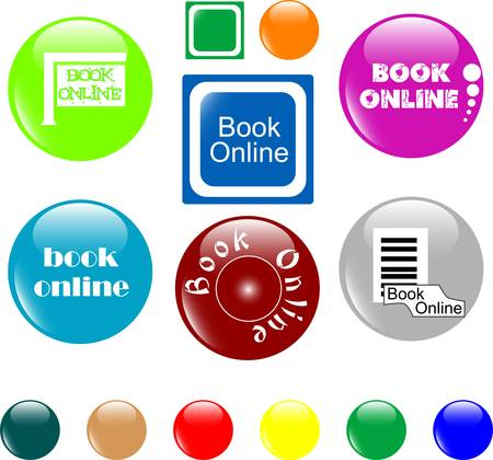 button book online colored icon Vector