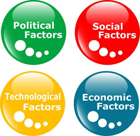 economic issues: button analysis concept icon