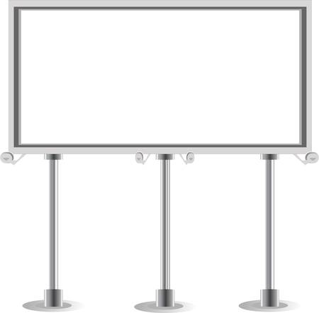 outdoor advertising: Billboard isolated on white Illustration