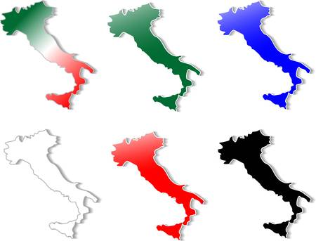 form of Italy stickers set Vector