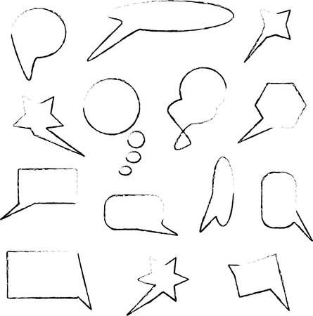 speech bubbles collection isolated Vector