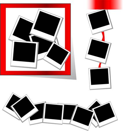 photo frame in different board Vector
