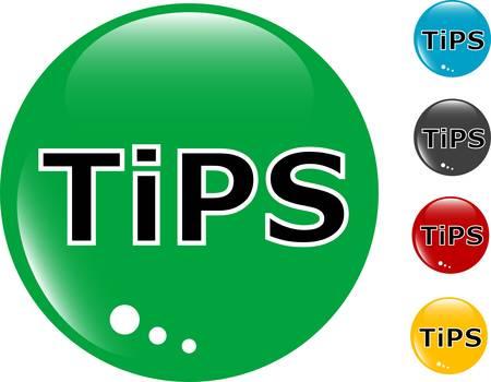 Consejos de cristal botón con el icono