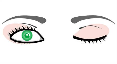 ojos llorando: Hermosos pares de ojos Vectores