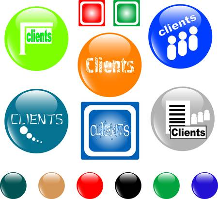 button clients colored icon Vector