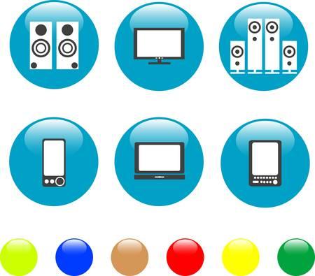 electronics media technical equipment icon Vector