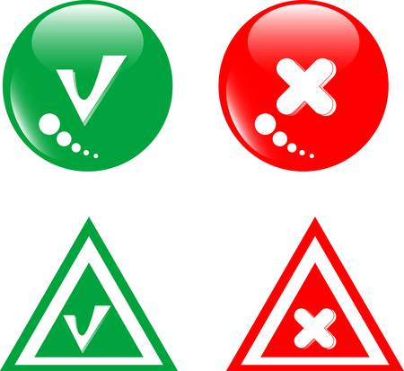 panoply: button green accept and red reject