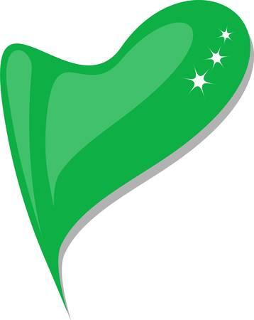 lebanon: lebanon in heart. Icon of lebanon national flag. Illustration