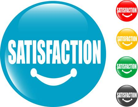 square button Satisfaction sign Stock Vector - 10358835