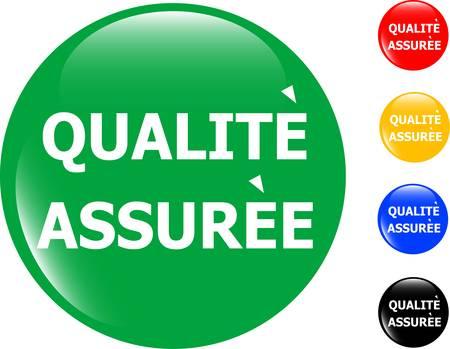quality guarantee glass button icon Vector