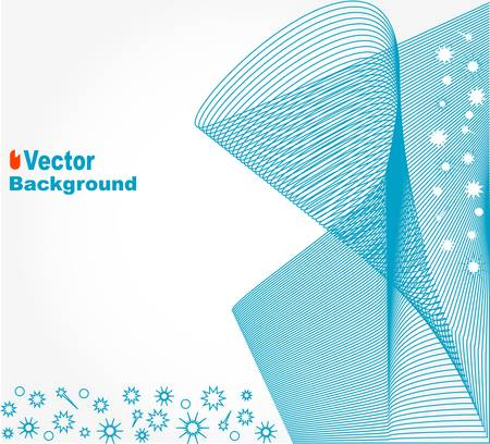 Abstract background with blue wave Illustration