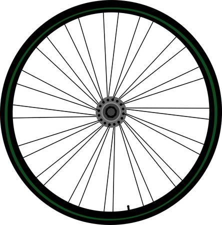 hub: Bike wheel Illustration