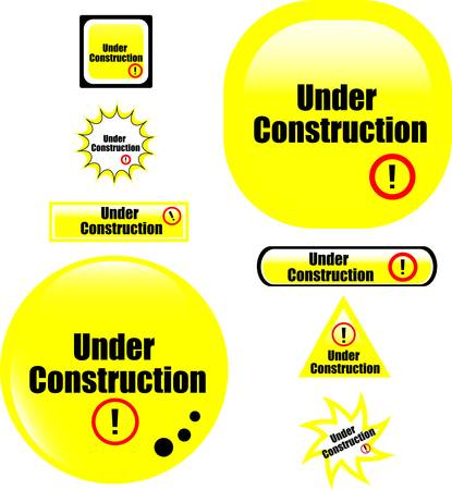 button under construction website icon Vector