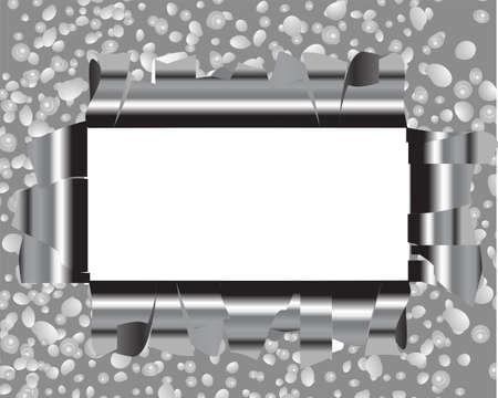 bullethole: Hole metal frame Stock Photo