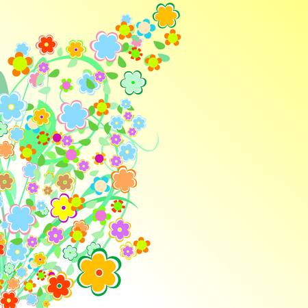Beautiful Floral Border. Flower design Vector