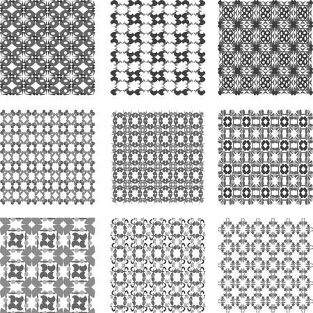 ksztaÅ't: Zestaw czarno-białe geometryczne wzory. Kolekcja tła