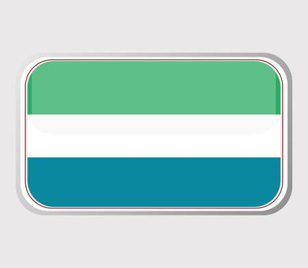 Flag of sierra leone in the form of an icon for a web of pages Stock Vector - 10543889