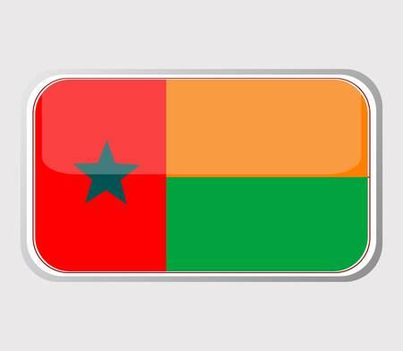 guinea bissau: Flag of guinea bissau in the form