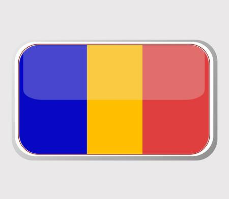 Flag of Chad in the form Stock Vector - 10570840