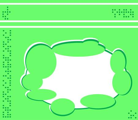Retro greeting card template design green wallpaper Vector