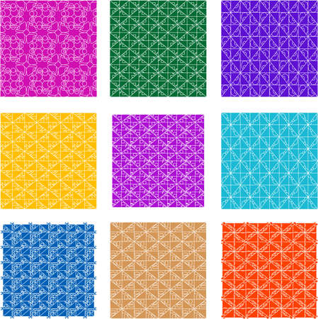 trendy tissue: Seamless background flowers, floral pattern colored set